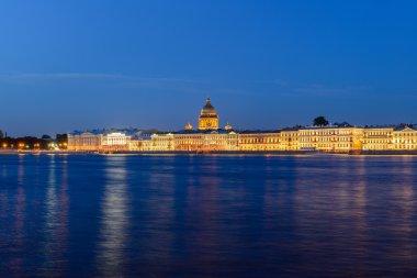 Embankment in St. Petersburg. Views of the City