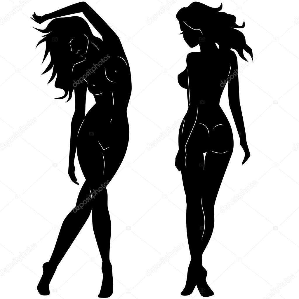 Обнаженный женский силуэт