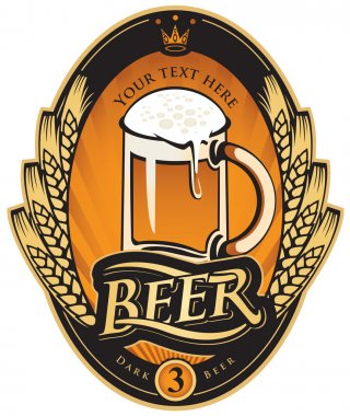 Label of beer