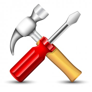 Hummer and Screwdriver Icon. Vector illustration stock vector