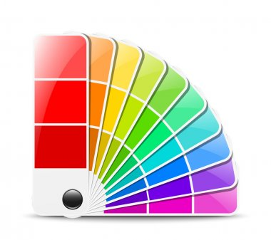 Color palette icon. Vector illustration