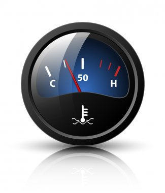 Vector motor temperature gauge icon