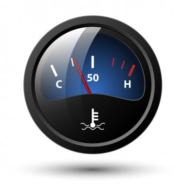 Motor temperature gauge icon. Vector illustration clip art vector