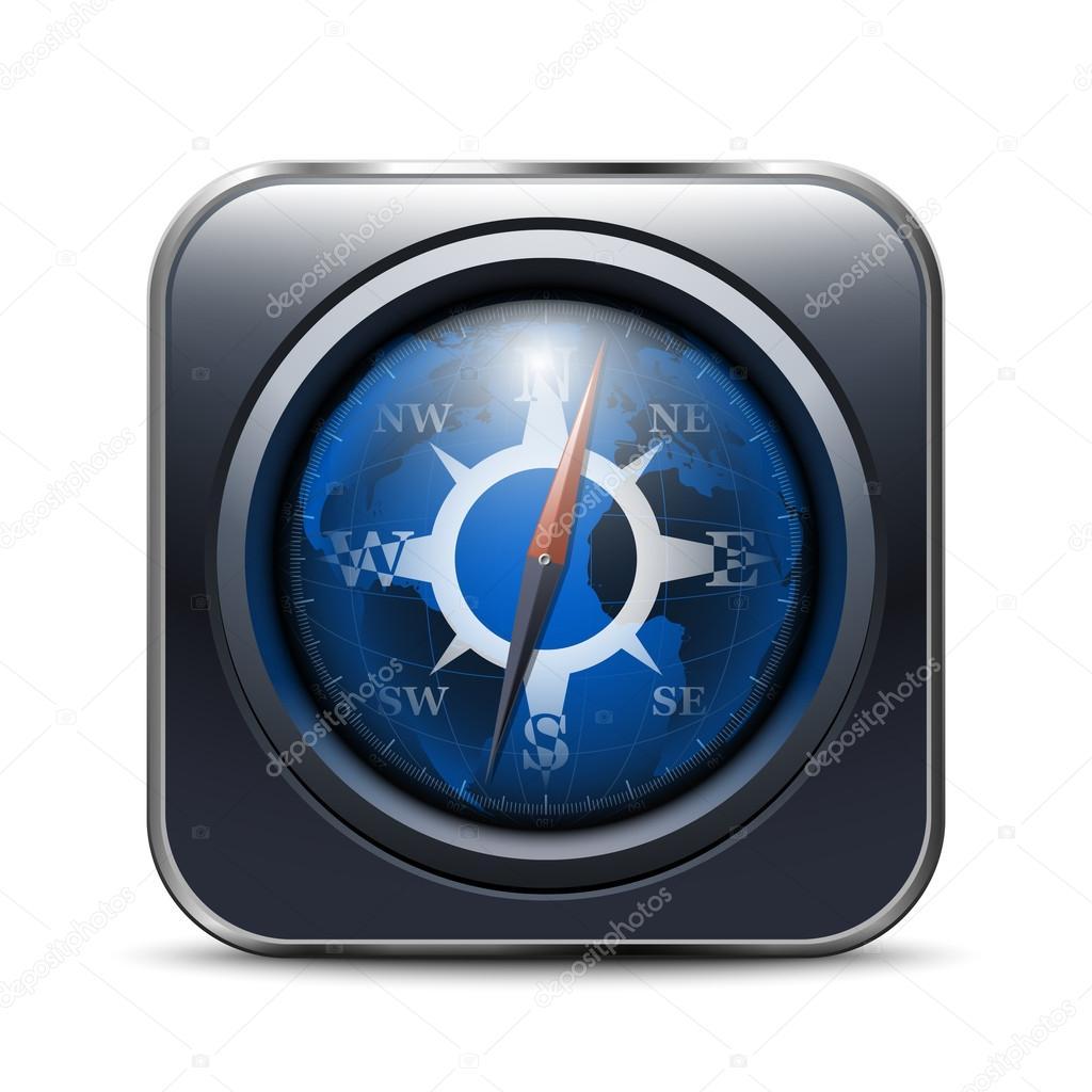 kompass app symbol stockvektor realvector 26007447. Black Bedroom Furniture Sets. Home Design Ideas