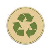 Samolepka recyklace papíru
