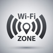 vektorové ikony wi-fi sítě
