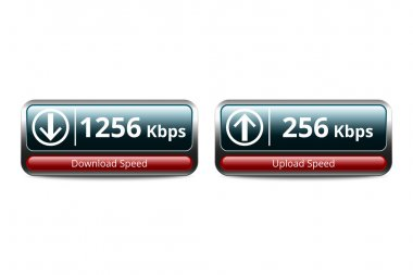 Download and upload speed test icon