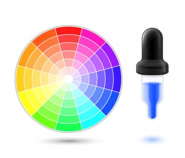 wheel palette and dropper icon