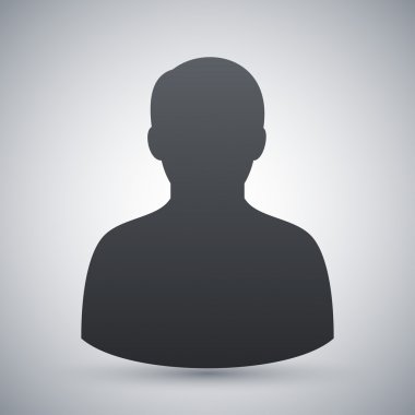 Vector male user icon