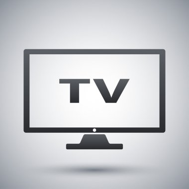 Vector modern tv icon