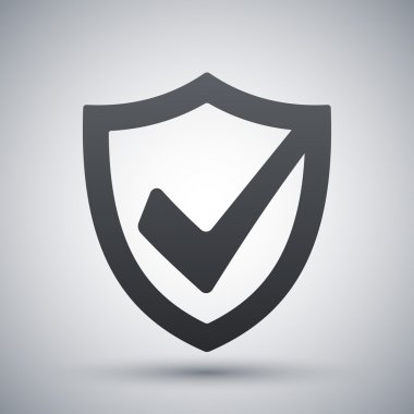Vector security shield icon