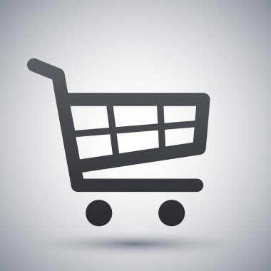 Vector shopping cart icon stock vector