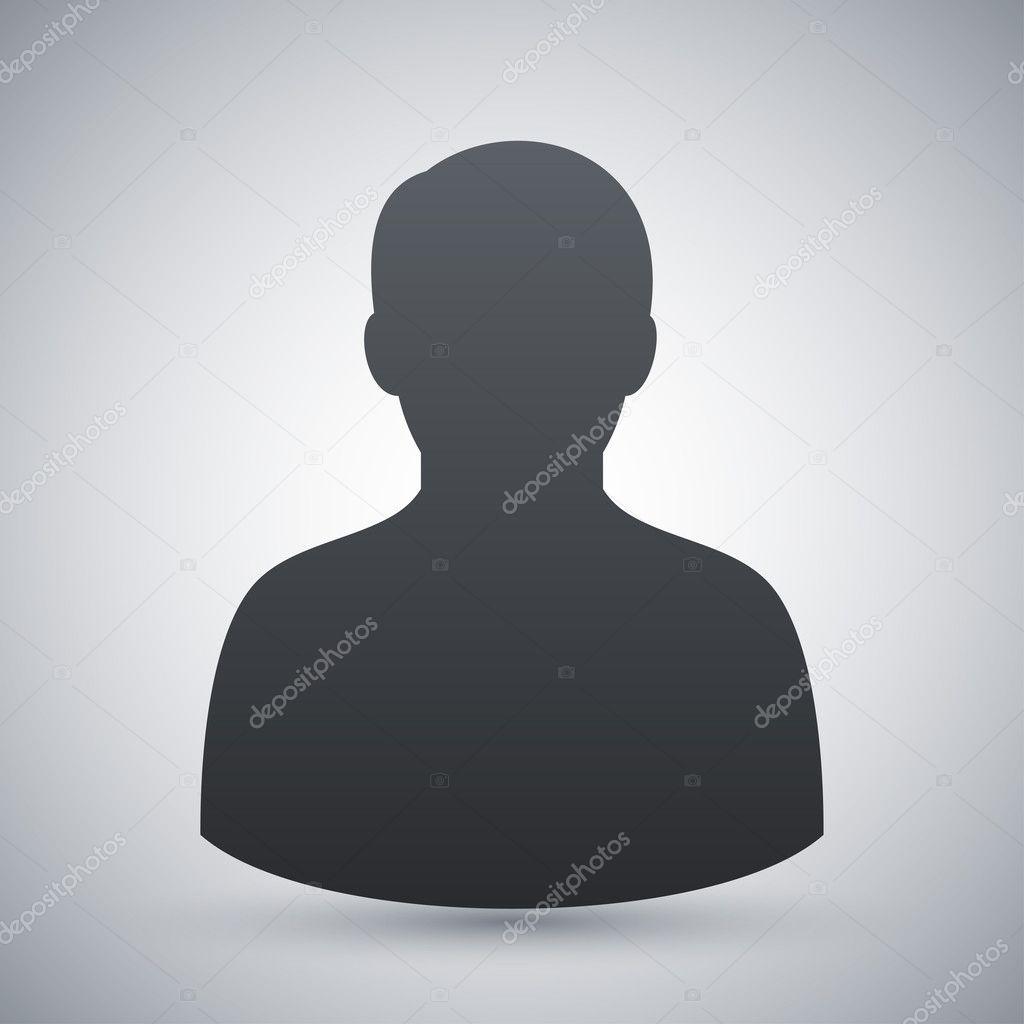 Vector male user icon