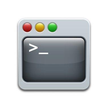 Vector command line icon