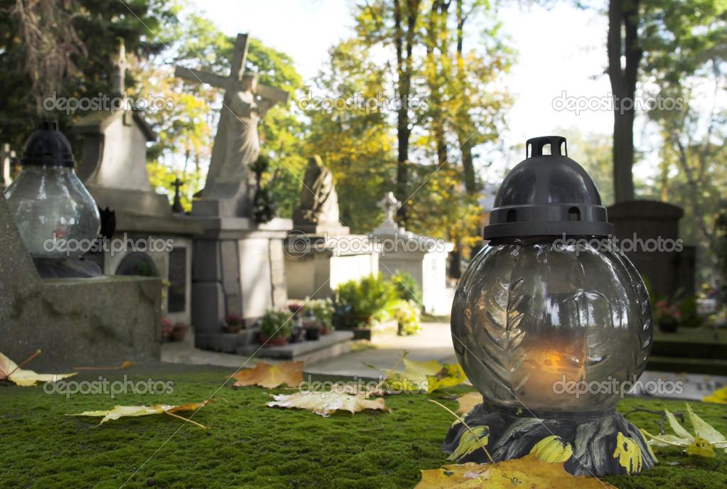 Cmentarz Na Wszystkich świętych Dzień Zdjęcie Stockowe