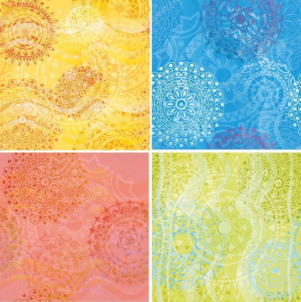 Set of beautiful ethnic textures