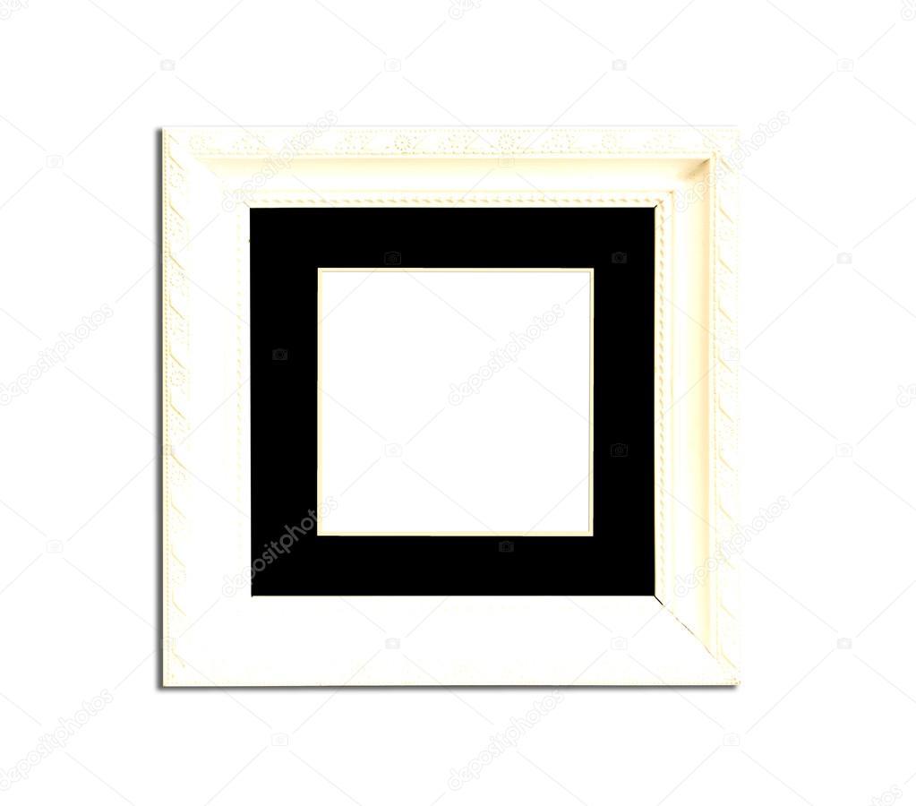 weiße Vintage Bilderrahmen auf weißem Hintergrund — Stockfoto ...