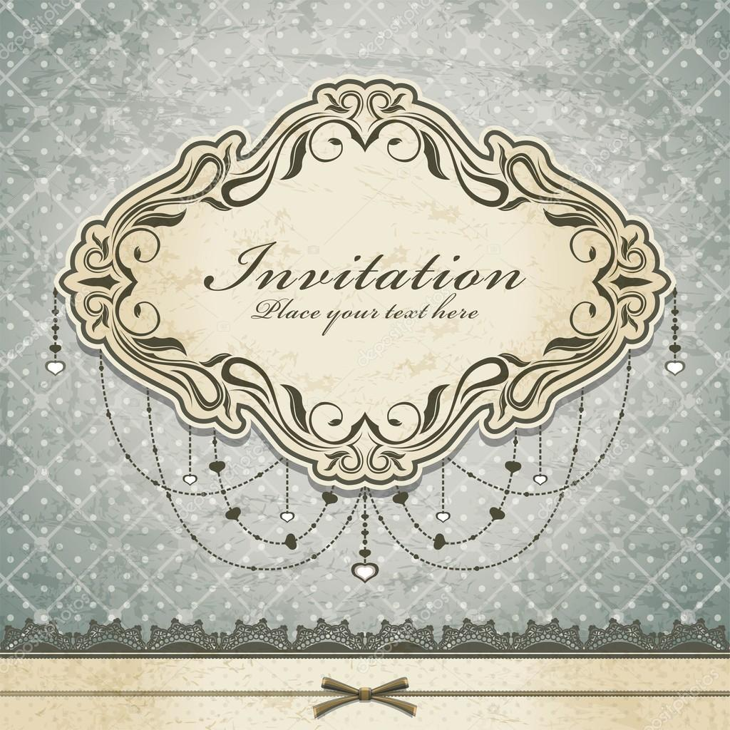 Vintage invitation frame template — Stock Vector © Donnay #13028542