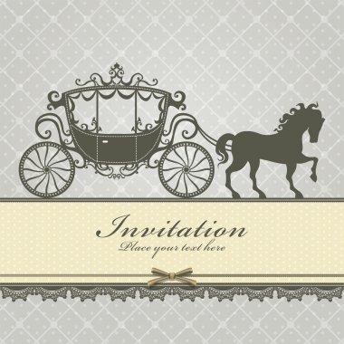 Vintage Luxury carriage invitation template