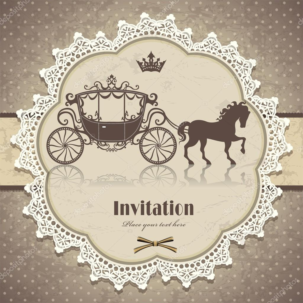 Vintage horse carriage invitation template stock vector donnay vintage horse carriage invitation template stock vector stopboris Image collections