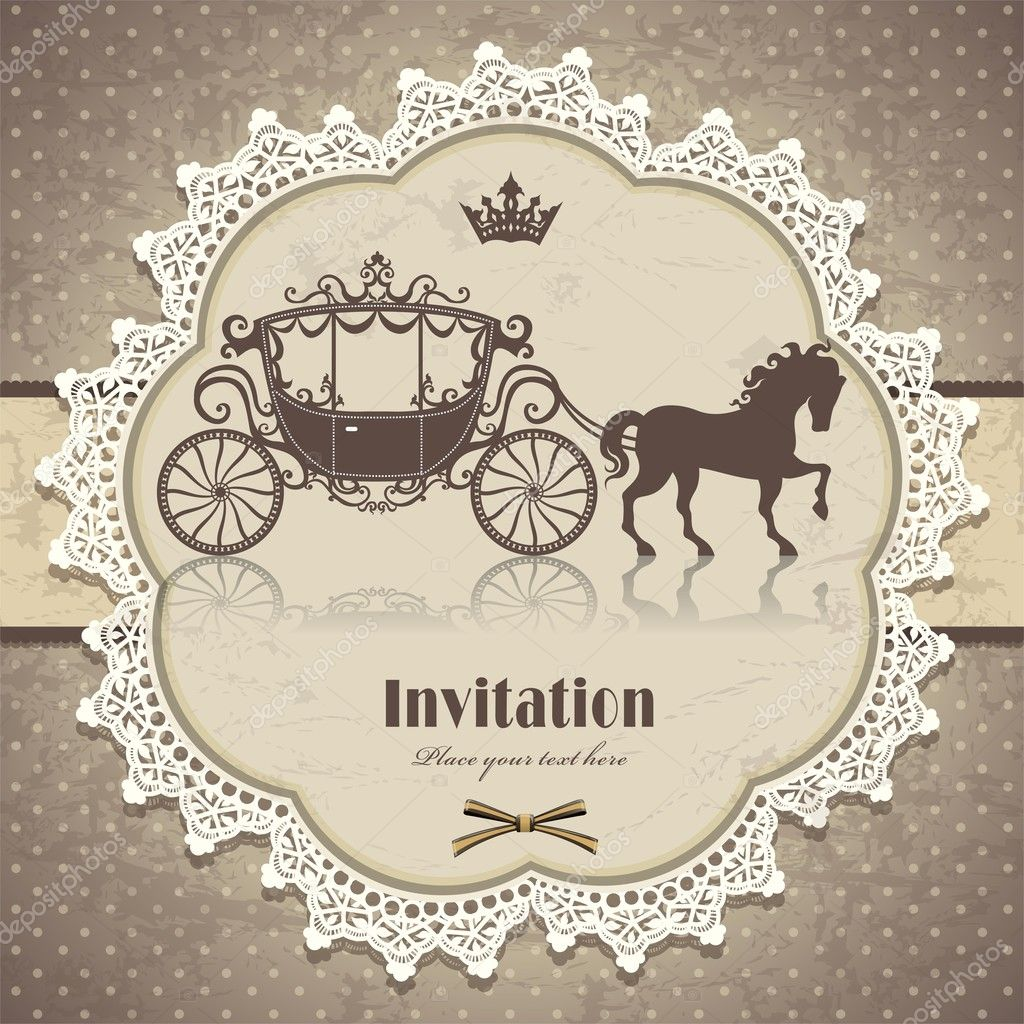 Vintage horse carriage invitation template stock vector donnay vintage horse carriage invitation template stock vector stopboris Gallery