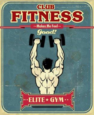 Vintage Fitness Gym poster design