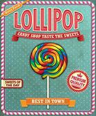 Fotografie Vintage Lollipop-Poster-design