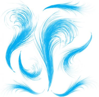 Blue airy feathers