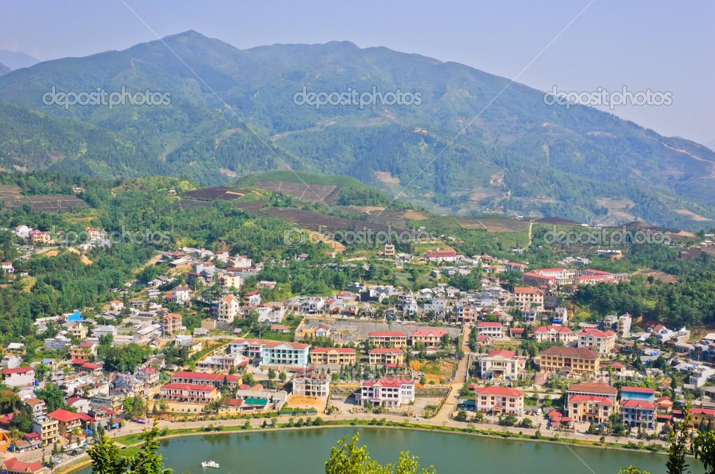 Paysage de la ville de sapa vietnam photographie for Paysage de ville