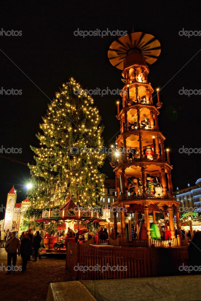 Dresden Weihnachten.Weihnachtsmarkt Dresden Dresden Weihnachten Markt 01 Stockfoto