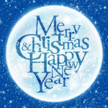 Merry Christmas & happy new year greeting