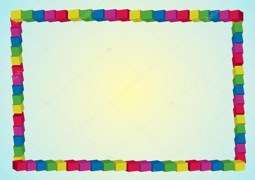 Rainbow frame — Stock Vector © martinased #12672071