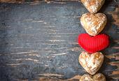 Fotografie Heart shaped candies