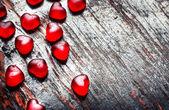 piros szív alakú cukorka