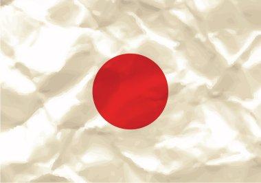 Crumpled flag of Japan