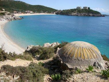 Bunker at beach, Jal beach, South Albania