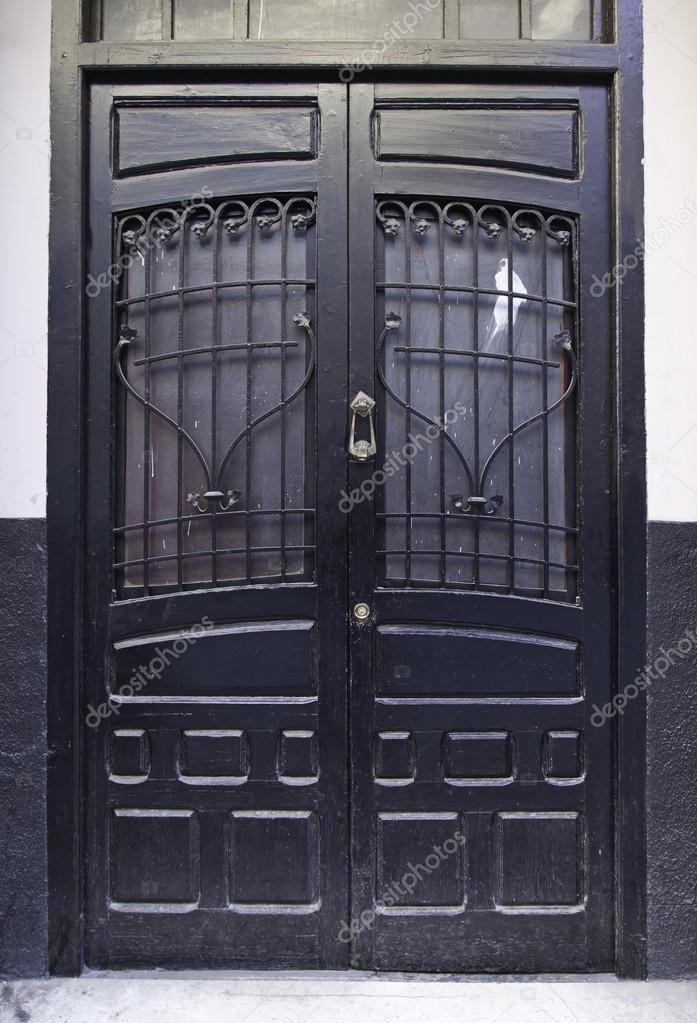Antiguo de madera de la puerta estilo victoriano fotos for Puerta de madera doble estilo antiguo