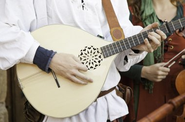 Medieval guitarist