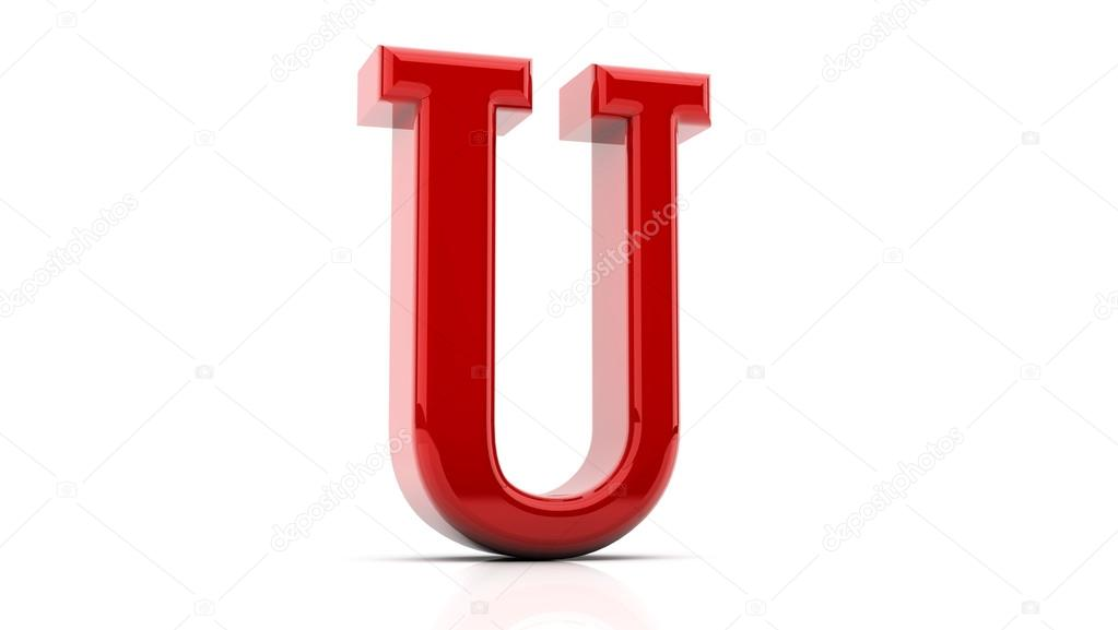 3d rendering of the letter U — Stock © Changered