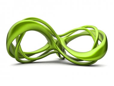 Futuristic green 3d infinity sign illustration