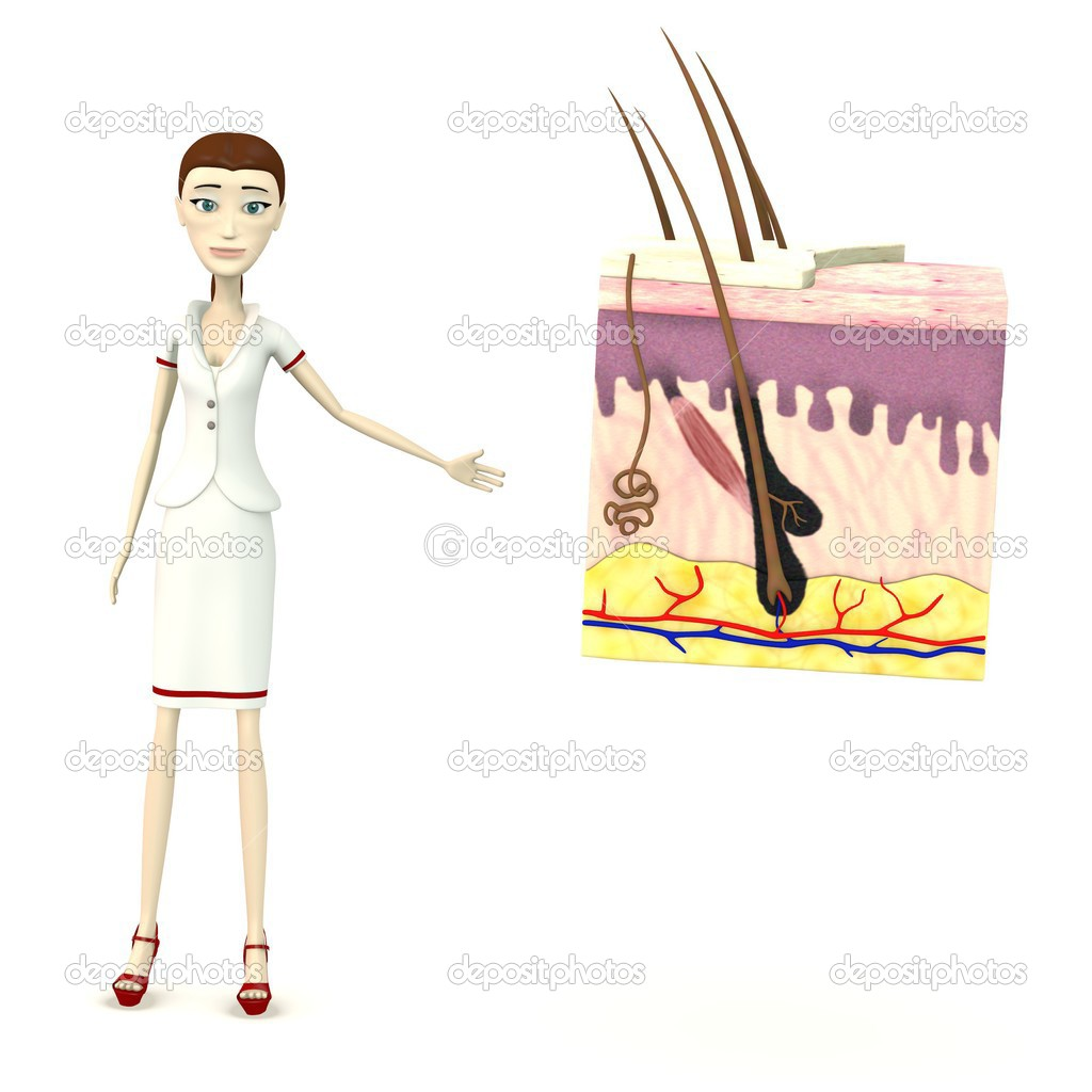 render 3D del personaje de dibujos animados con la anatomía de la ...