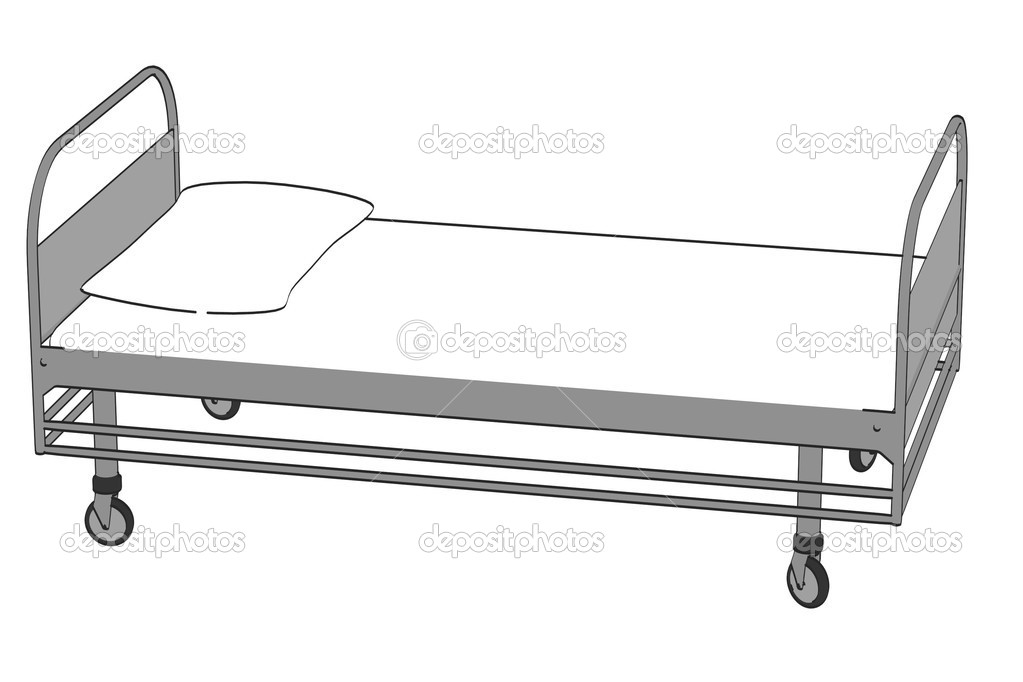 Hospital Bed Cartoon Drawing