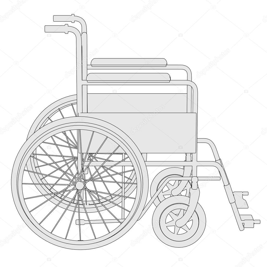 Caricatura de la silla de ruedas foto de stock 3drenderings 37224293 - Tamano silla de ruedas ...