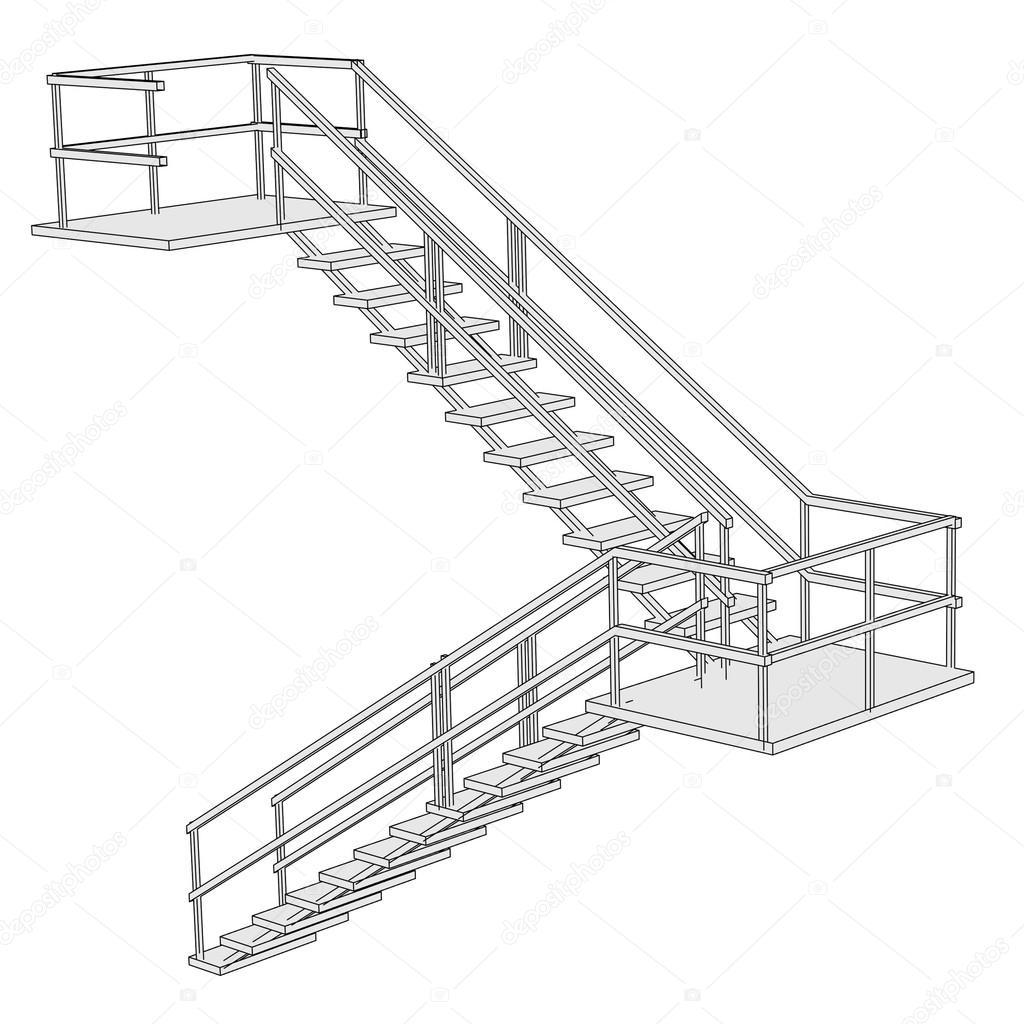 image de dessin anim de structure de l 39 escalier photographie 3drenderings 38083799. Black Bedroom Furniture Sets. Home Design Ideas