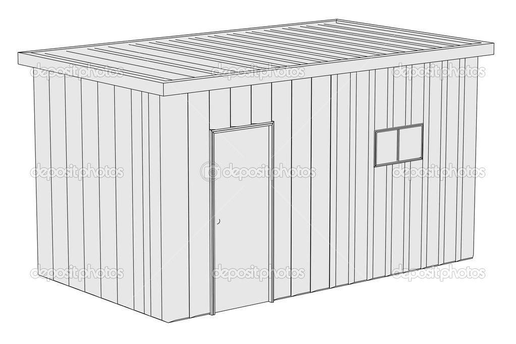 Image de dessin anim de cabane de chantier photographie - Dessin de cabane ...