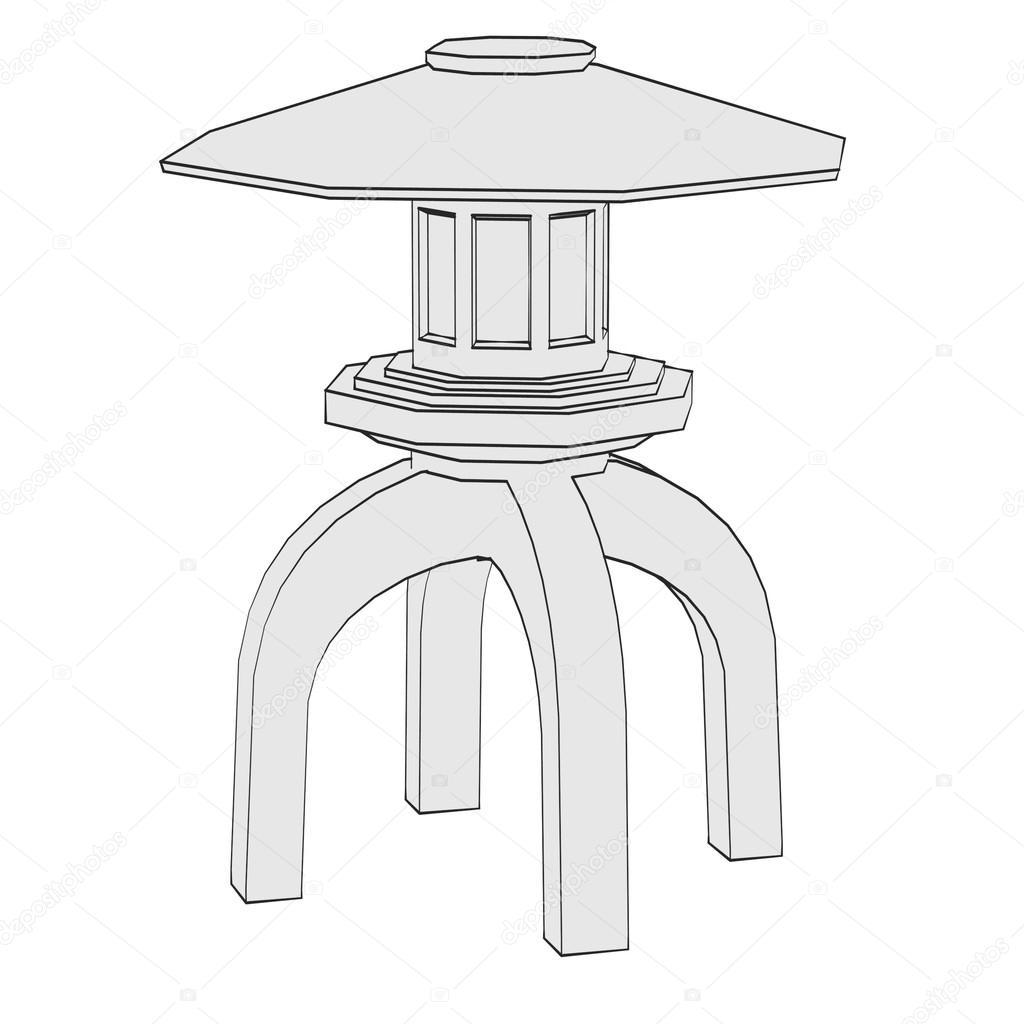 Image de dessin animé de statue de jardin — Photographie ...