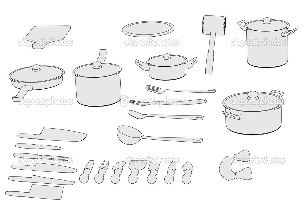 de dessin animé de batterie de cuisine — photo #39241959