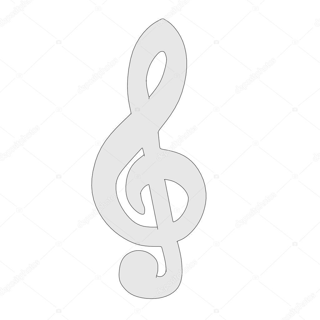 Cartoon Image Of Music Symbol Stock Photo C 3drenderings 39902527