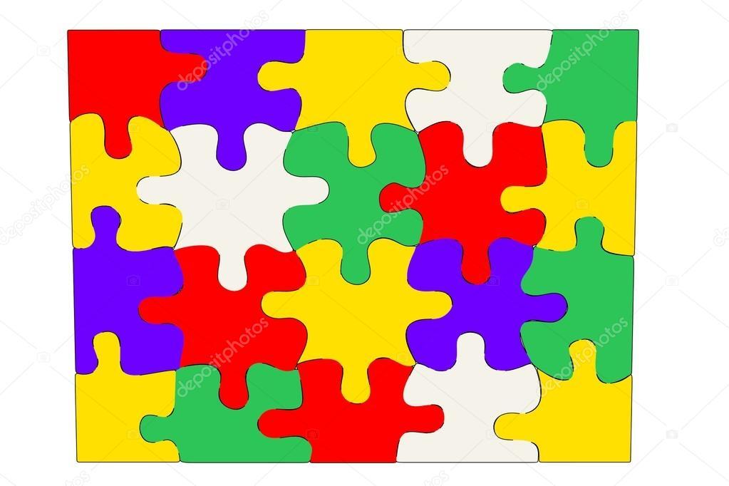 Cartoon image of puzzle pieces stock photo - Puzzle dessin ...