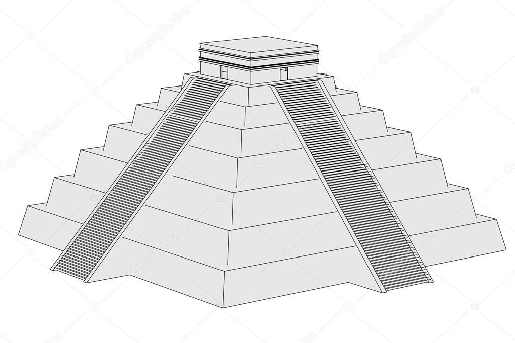 Image de dessin anim de pyramide mexicaine photographie - Dessin de pyramide ...